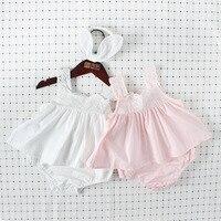 מכנסיים קצרים תינוקת פעוט אירופאי תוספות רקמת תחרה סרט חמוד נסיכת Clothings ילדים הילדה Rompers הקיץ