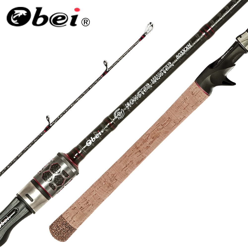 OBEI MONSTER HUNTER 803XXH  Casting Spinning Fishing Rod  Carbon Fiber 2.38m  20-80g Power catfish LURE Travel Fishing rod