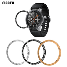 FIFATA Replacement Smart Watch Accessories For Samsung Galaxy 42MM/46MM Bezel Ring Protect Case Anti Scratch Metal Sticker