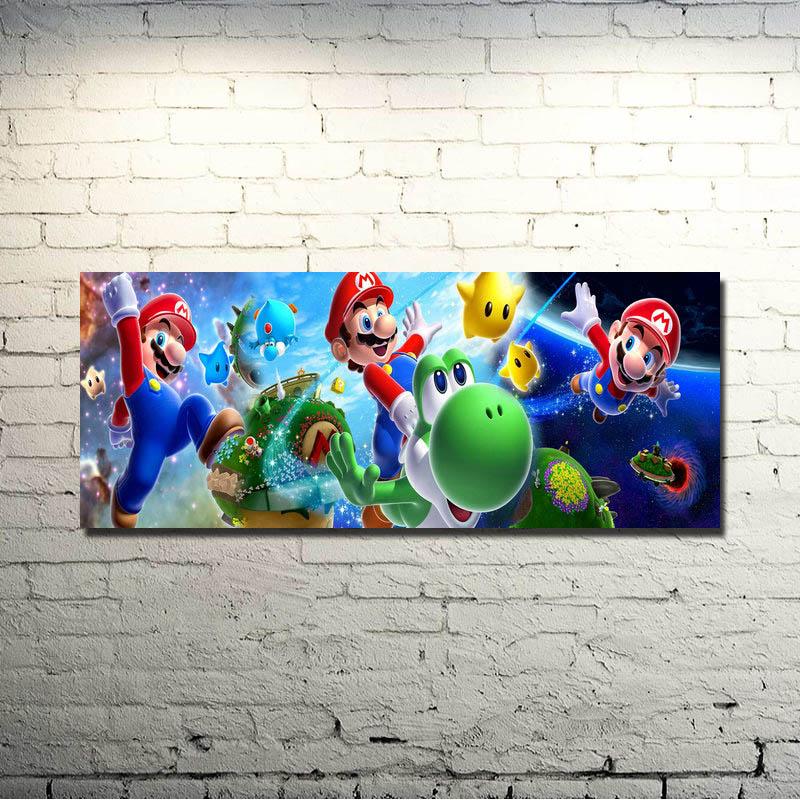 POPIGIST-Super S Mash B Rosมาริโอพรรคศิลปะผ้าไหมผ้าพิมพ์โปสเตอร์24x60นิ้วเกมสำหรับภาพที่ผนังตกแต่ง057