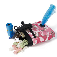 Camouflage Green Pink Pet Dog Walking Food Treat Snack Bag Outdoor Agility