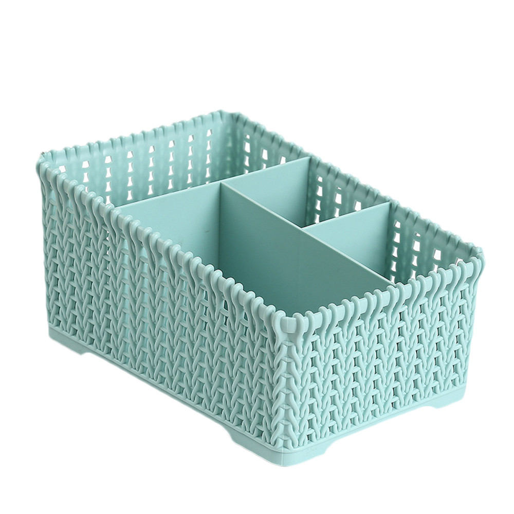Four grids Plastic Makeup Organizer for Storage of Makeup Brush and Other Beauty Essentials Suitable for Home Office and College 1