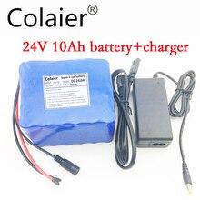 Colaier 24 В 10Ah 6s5p литиевая батарея электрический велосипед 18650/24 В (25.2 В) литий-ионный аккумулятор + зарядное устройство 1A + бесплатная доставка