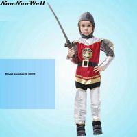 New Hot Antique Roma Warrior Cosplay Costume Enfants Enfants Garçons Vêtements Halloween Carnaval Costumes De Fête Fantaisie Robe Décoration