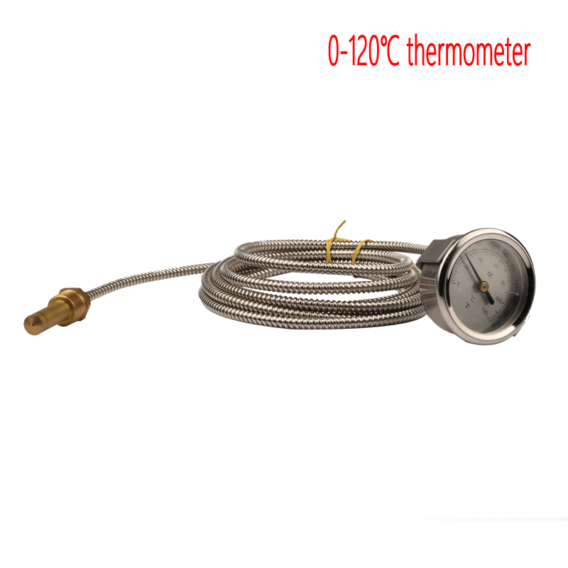 0-120 Degrees Celsius  Stainless Steel Thermometer with 3 meter Probe for Boiler Room  High Quality Water-temperature Gage TEMP
