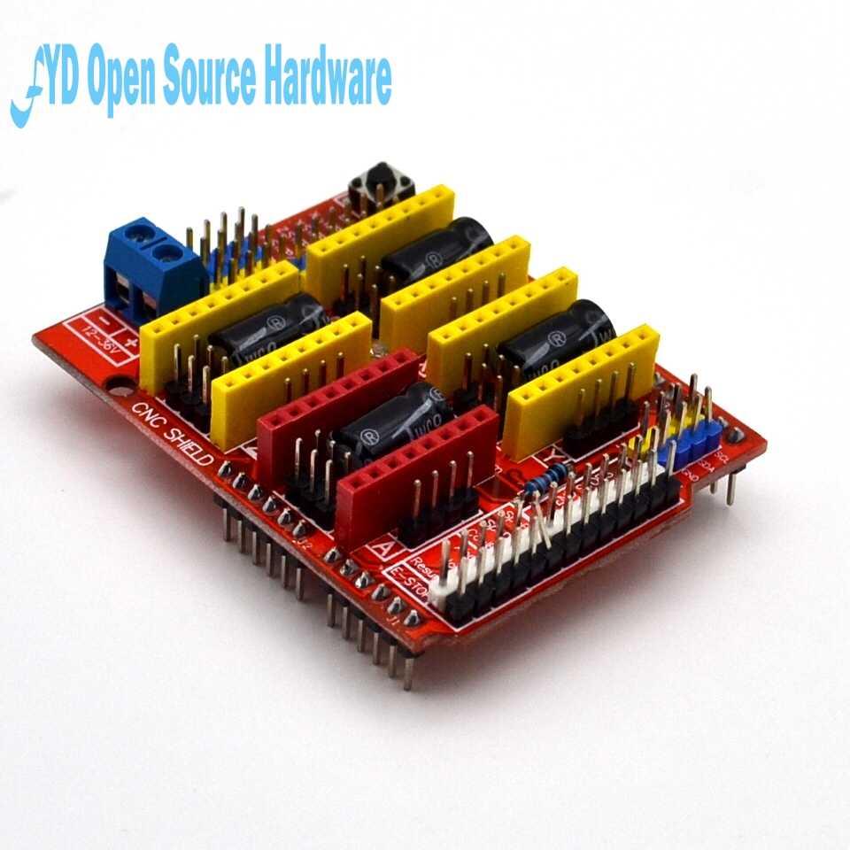 1 pièces V3 Graveur 3D Imprimante CNC Carte D'extension De Bouclier A4988 Conducteur