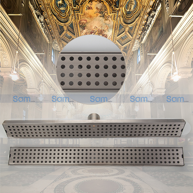 Linear Shower Drain Traditional Square Style by Serene Steam Strainer Stainless Steel Floor Drain ,Bathroom Floor  Drain mayitr stainless steel linear shower ground floor drain grate mesh sink strainer bathroom tool 900mm