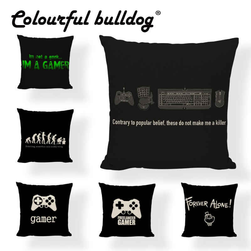 Luxury Freelancer Gamer Cushion Covers Evolutionary Theory Pilow Office 45*45Cm Car Home Living Room Decorate Throw Pillow Case