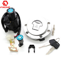 For Honda VTR1000F CBR1100XX/1000/600F4/600F4I CB400 Motorcycle Ignition Switch Lock Fuel gas Tank Cap Cover Seat Handle Locks