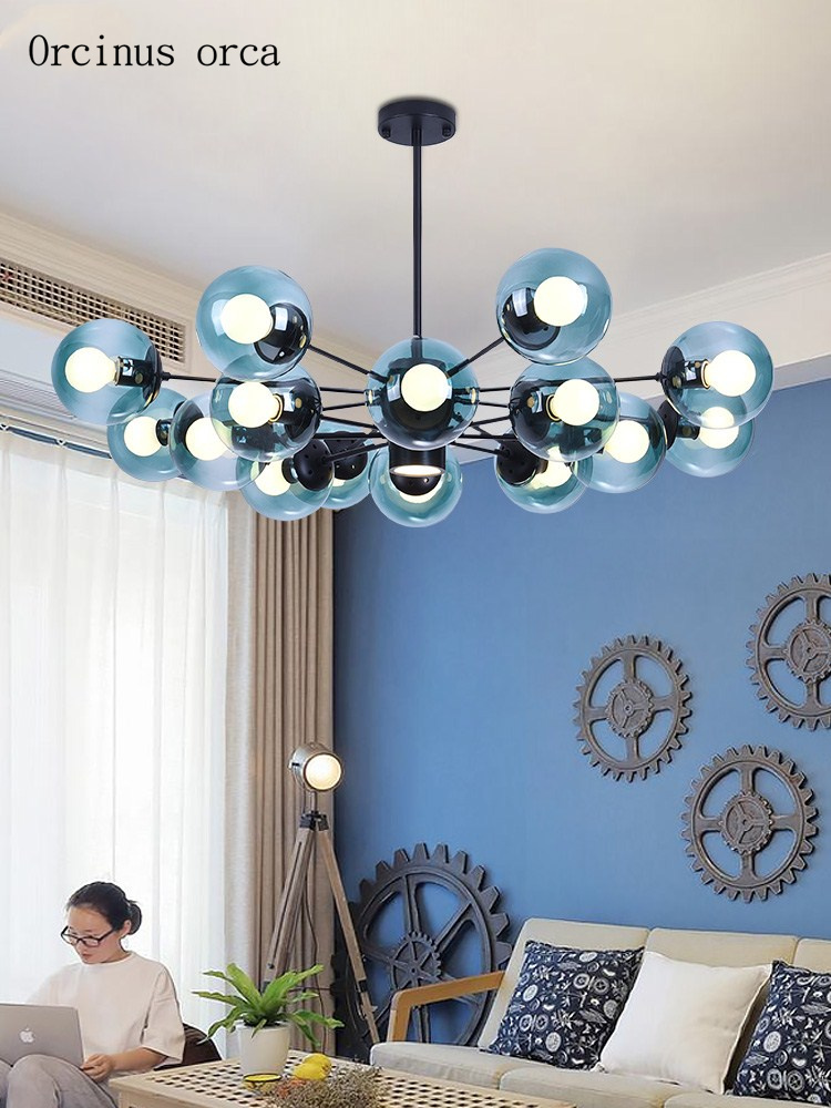 Nordic modern minimalist chandelier living room bedroom postmodern personality creative magic bean Chandelier free shipping|Pendant Lights|   - title=