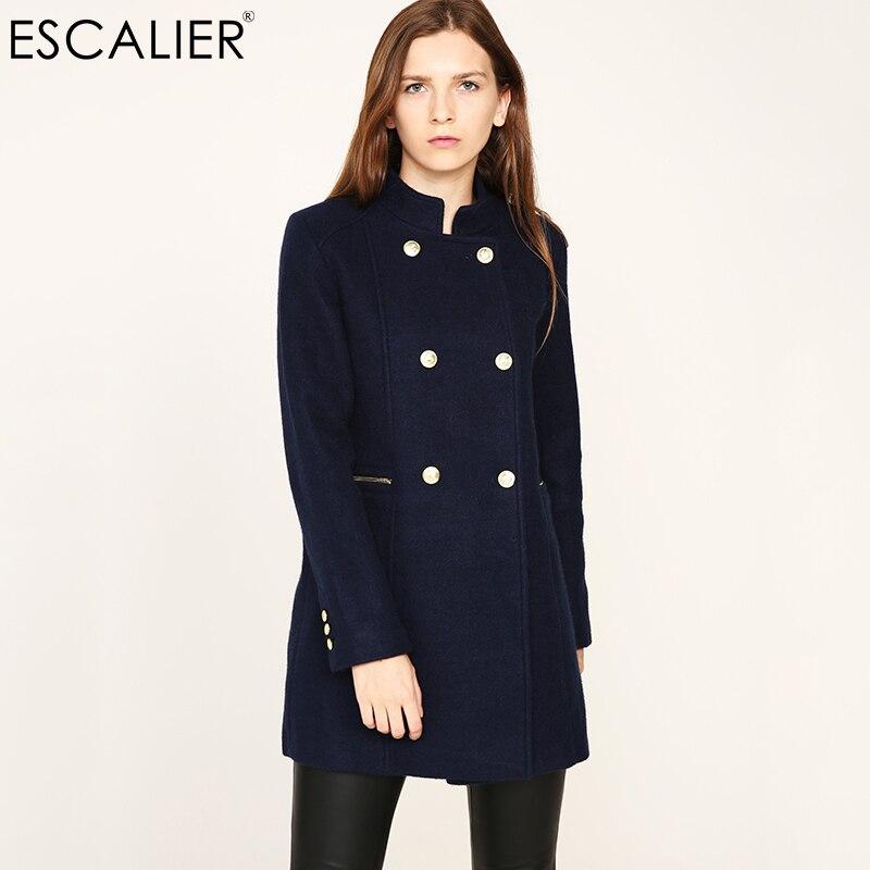 Womens Outwear Wool Blend Toggle Thick Vogue Woolen Jacket