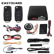 Car-Alarm-Kit Auto-Lock Push-Button Start-Stop Remote-Engine-Start Easyguard Pke