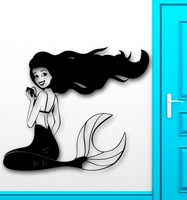 New Sexy Girl Vinyl Wall Decal Mermaid Cool Decor for Kids Baby Room Nursery Removable Home Decor Salon Mural Art Wall Sticker