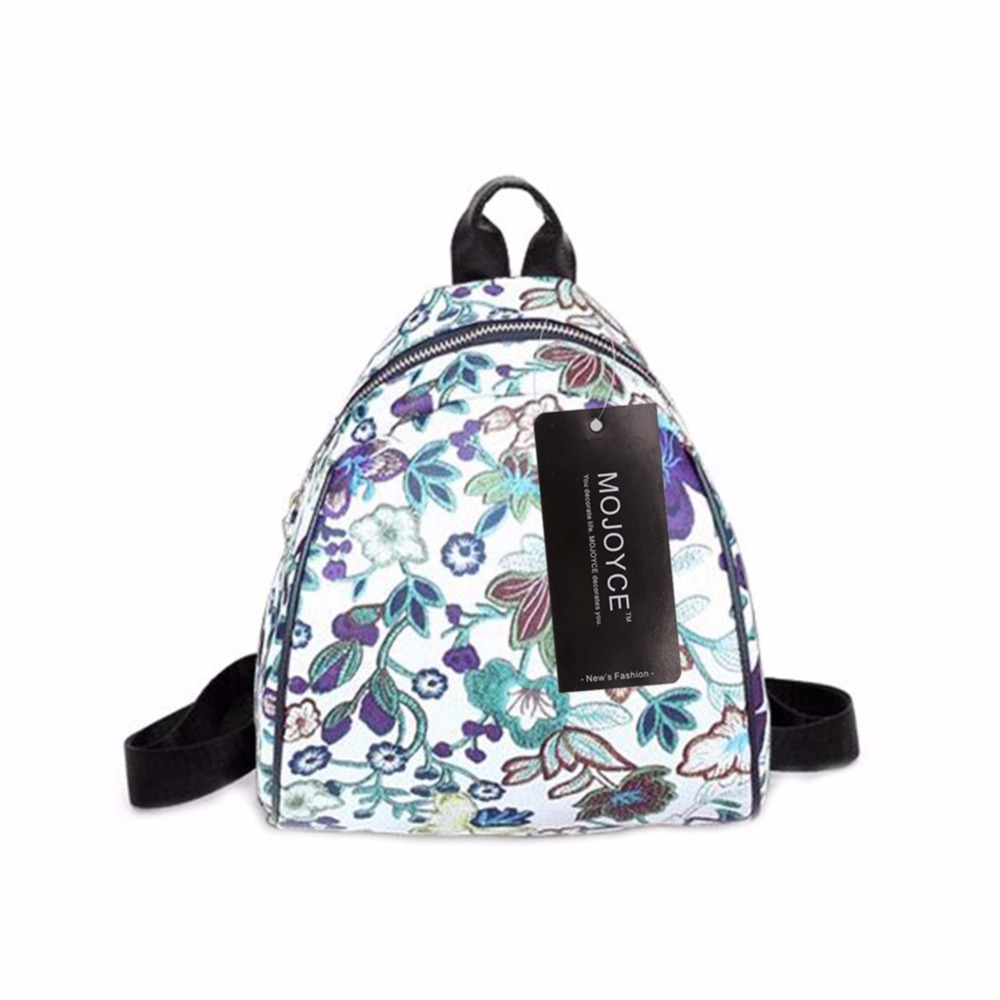 Summer Women PU Leather Floral Printed Backpack Teenager Girls Casual School Bag Ladies Travel Rucksack Mochila Escolar vintage casual small women printing backpack ladies casual preppy style school bag teenager girls female travel rucksack mochila