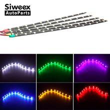 Car LED Strip light 30CM 5050 12 SMD Waterproof Daytime Running light Decoration Silicone Strip Fog lamp 12V DC