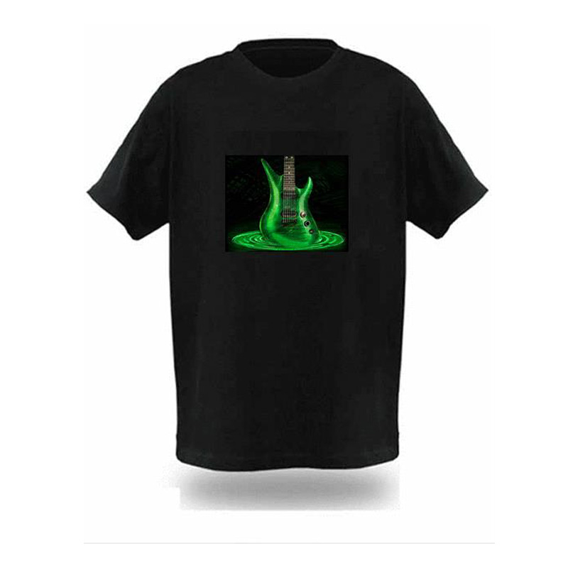 Factory Sale Sound Activated Led T Shirt Light Up And Down Flashing Equalizer El T-shirt Men For Rock Disco Party Im Dj T Shirt T-shirts