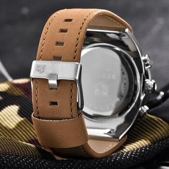 BENYAR Large dial design Chronograph Sport Mens Watches Fashion Brand Military waterproof Quartz Watch Clock Relogio Masculino 5