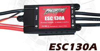 New FMS Predator 130A Brushless ESC Speed Control w/ 10A Switch BEC XT90 EC5 Connector for RC Airplane Fixing Wing