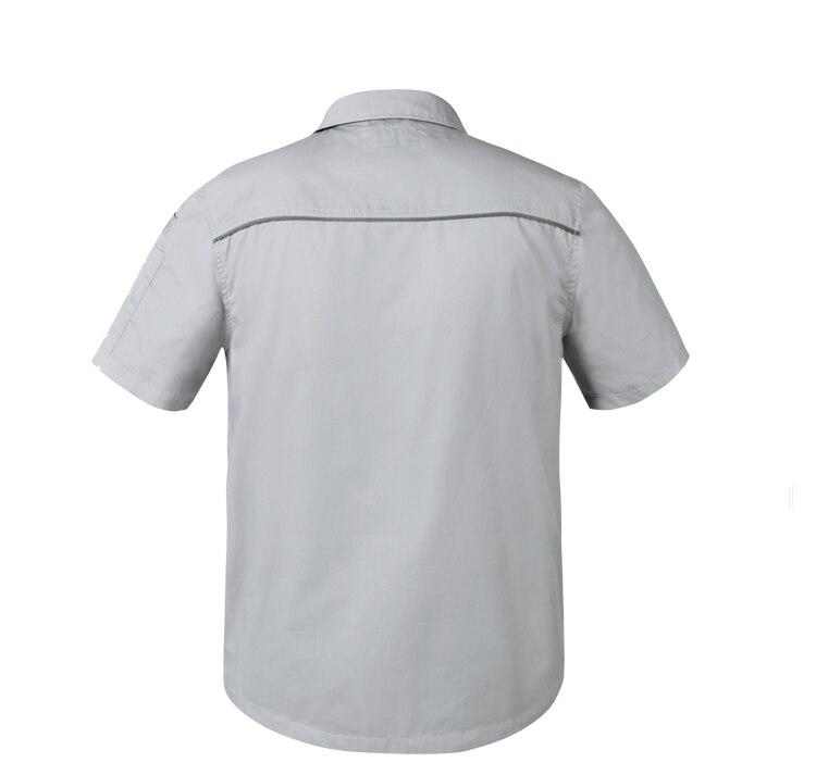 db928656eb95 Bauskydd Work wear Mens Women Summer Work Shirt Short Sleeves With ...