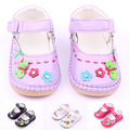 High Quality PU Leather Flower Baby Girl Princess Shoes Kid Shoes 1-3 Years