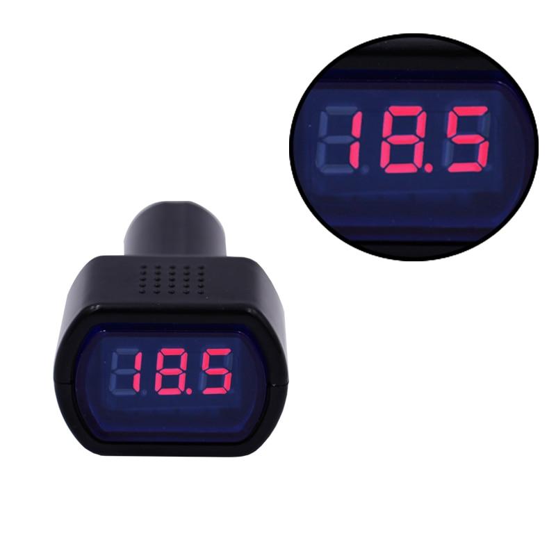 100pcs/lot LED display DC 12V-24V Car Digital Engine Battery volt capacity tester voltage Electric monitor 20% off
