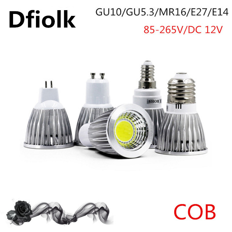 COB Led Spotlight 9W 12W 15W Led Lamp GU10/GU5.3/E27/E14 85-265V MR16 12V Cob Led Bulb Warm White Cold White Bulb Led Light