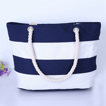 Girl Casual Summer Canvas Shopper Shoulder Bag Striped Beach Bags Large Capacity Tote Women Ladies Casual Shopping Handbag Bolsa 2017 fashion cartoon handbag tote shoulder stripe casual women ladies canvas bag simple cute mini girl bags bolsa feminina