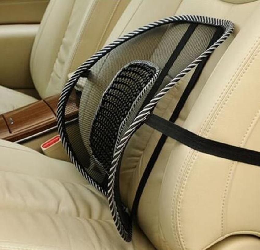 Back brace support lumbar cushion massage cool for office home car seat chair four seasons healthy waist pad Black mesh lumbar
