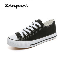 Summer Canvas Shoes Woman Casual Platform Sneakers Low Lace-