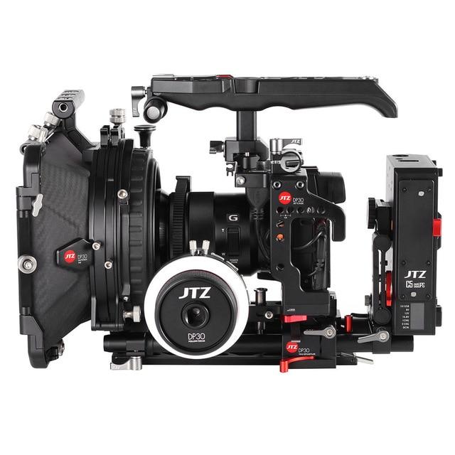 JTZ DP30 Camera Cage Baseplate Matte Box Follow Focus Rig KIT For Panasonic GH3 GH4 GH5 GH5S jtz dp30 camera cage baseplate shoulder handle rig kit for panasonic gh3 gh4 gh5 gh5s