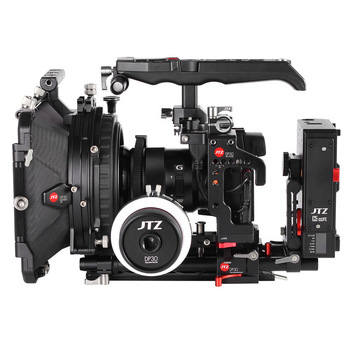 JTZ DP30 Camera Cage Baseplate Matte Box Follow Focus Rig KIT For Panasonic GH3 GH4 GH5 GH5S aluminum alloy handheld camera video support kit dslr cage set with follow focus matte box for sony a7s a7 a7r a7rii a7sii gh4