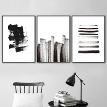 Abstract Black And White Line A4 Wall Art Canvas Painting Nordic Posters Prints Pictures For Living Room Pop Decor