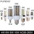 Mumeng lâmpada led de milho e27 e14 g4 lâmpada led 3 w 4 w 6 W 8 W 10 W G9 Lâmpada 5 W Ampola Dimmable levou Para Casa a Iluminação Lustre dispositivo elétrico