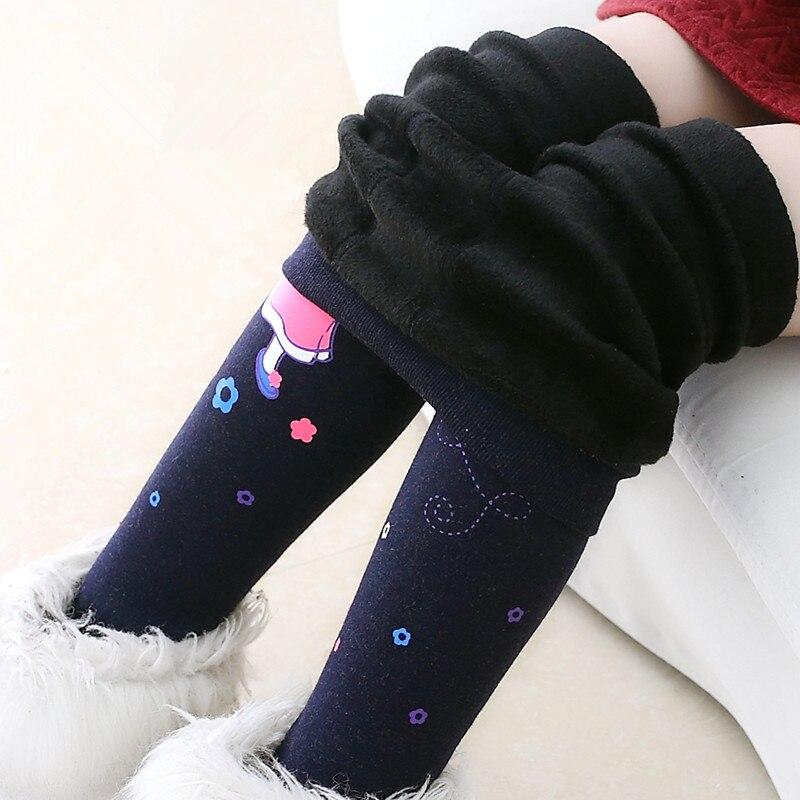 цена на 1Pcs New Sweet Style Girls Warm Winter Leggings Thicken Elasticity Baby Girl Leggings Pants Trousers Toddler Children Legging