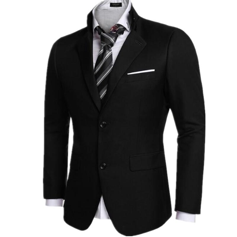 18.1 Black color men\'s suit jacket formal wedding two grain of buckle hot sale high quality custom men\'s suit jacket