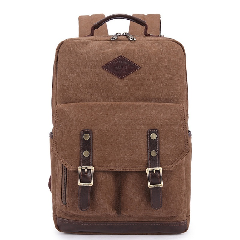 Men Canvas 15 Inch Notebook Backpack Multi-Function Travel Daypack Computer Laptop Bag Male Vintage School Bags Retro Knapsack 2016 new style canvas leather patchwork fashion student school stachel book 15 inch travel shopping laptop computer backpack bag