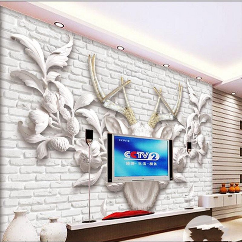 Custom Mural Wallpaper 3d Stereoscopic Relief Pearl: Beibehang Custom Large Scale Mural 3D Stereo Relief