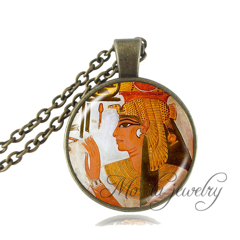 Egyptian Pendant,Ancient Egypt Jewelry Egypt Goddess Necklace For Women Men Jewelry Vintage Egyptian Glass Pendant Necklace