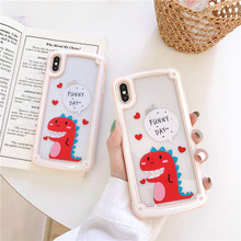 Funny Cartoon dinosaur protective case for iphone 6 6S 7 8 plus summer anti fall soft TPU Case for iphone X XS XR Max Back Cover samsung cartoon huawei cable accessories protective cover for iphone 6 7 8 plus x batman cable bite protective cover