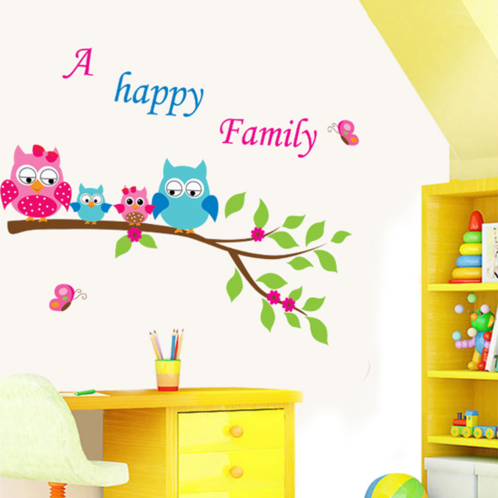Home Decoration DIY Kid's Child Room Decal Cartoon Cute