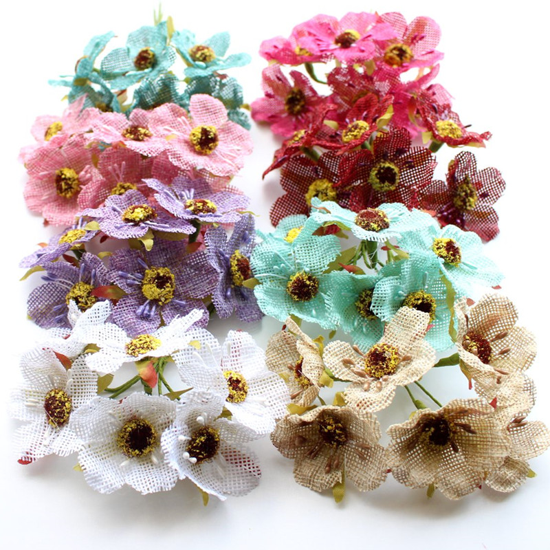 Aliexpress buy wedfavor 45cm artificial jute cherry blossom aliexpress buy wedfavor 45cm artificial jute cherry blossom flower bouquet fake poppy burlap flowers garland wedding scrapbooking decoration from mightylinksfo