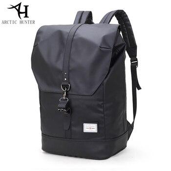 699b53b05fee Арктический Охотник студент школьный рюкзак для мальчиков 15,6 дюймов  ноутбук удобный рюкзак для путешествий сумка мужской Водонепроницаем..