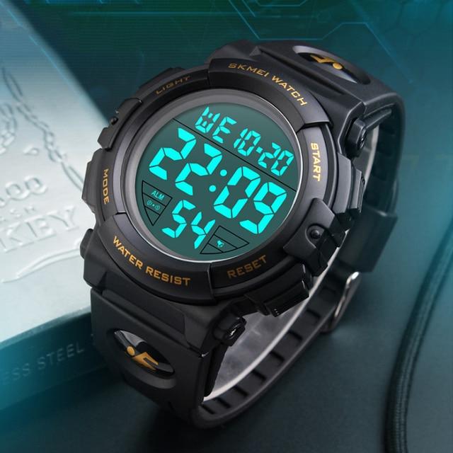 SKMEI Reloj Deportivo Hombres Moda Chrono Relojes 50 M Impermeable Reloj  Despertador Electrónico Digital Relojes Del Reloj masculino 1258 73aea4af164a