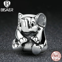 VOROCO Authentic 925 Sterling Silver Lucky Elephant Pendant Baby Charms Fit Pandora Bracelet DIY Beads Jewelry