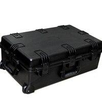 Gran tamaño  741x461x269mm  impermeable con ruedas  caja de envío de plástico con espuma de pico
