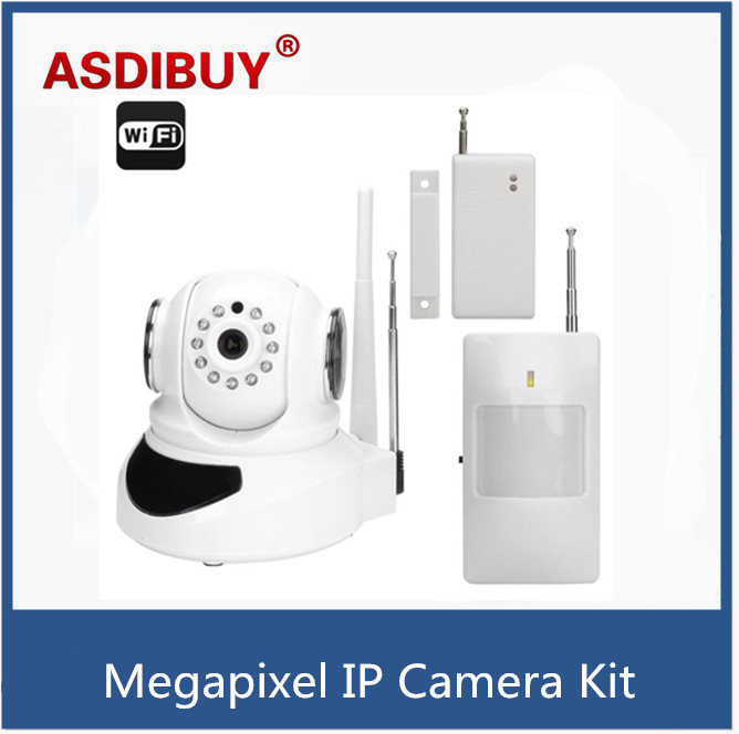 ФОТО Wi-Fi Smart Home Security System - 720P IP Camera with PIR sensor / door sensor alarm system for android and iOS