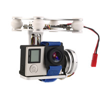 2 eksen fırçasız Gimbal hafif hava fotoğrafçılığı Gimbal tak ve çalıştır PTZ DJI Phantom 1 2 F550 F450 GoPro DIY Drone