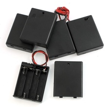 5Pcs 4 x AAA Batteries Battery Holder Case Storage w On/Off Switch цена