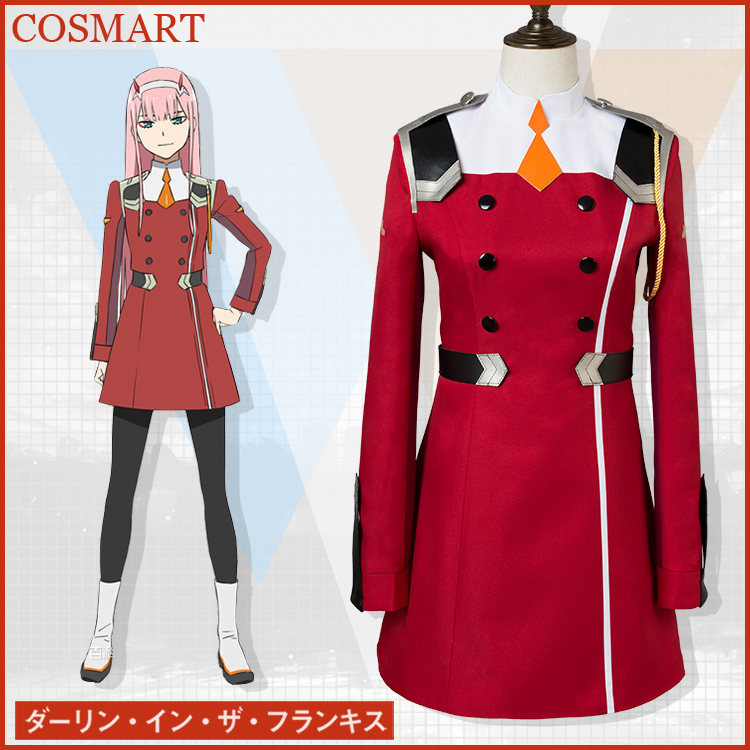 [April.STOCK]+Stockings Anime Darling in the Franxx CODE 002 ZERO TWO Uniform Halloween Cosplay costumes for women free ship free ship gou matsuoka long wine red women style anime cosplay wig one ponytail 370f