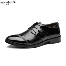 WHOHOLL Oxford Shoes for Men Shoes Wedding Dress Office Shoes Business Formal Classic Shoes Men Sapato Social Masculino стоимость